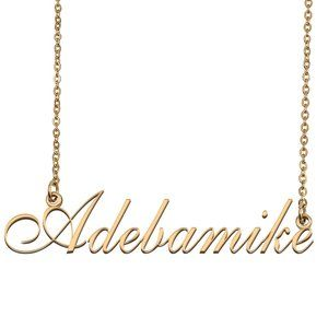 Custom Personalized Adebamike Name Necklace